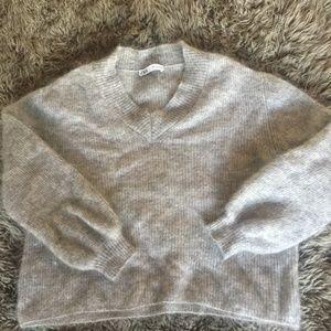 Zara Super Soft Slouchy V Neck Sweater